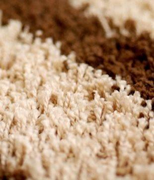 Close up of clean carpet fibres